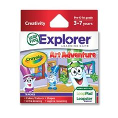 Amazon.com: LeapFrog Explorer Learning Game: Crayola Art Adventure: Toys & Games