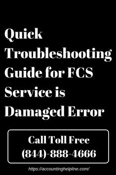 This article is intended to guide QuickBooks users on how to resolve QuickBooks FCS Service is Damaged Error.