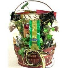 Coffee lover gift basket