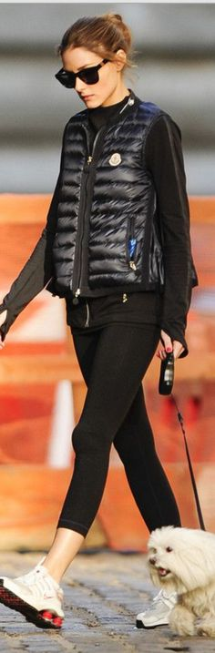 Olivia Palermo: Sunglasses – Westward Leaning  Vest – Moncler  Shoes – Nike