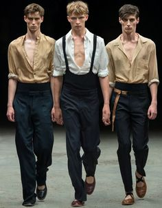 Laurie Harding & Valters Medenis & Mihai Bran | Dries Van Noten Spring/Summer 2015 | Paris Fashion Week