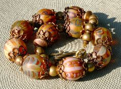 40+OFF+SALE++Luminous+lampworks+glass+necklace+by+InspiredbyDesign,+$220.00