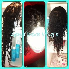 """Costume Upart Wig using a Silk Base lace closure with 22"""" 18"""" 14"""" Inches of brazilian Virgin Body Wave Hair Color Natural Brown   You want your own?  contect Gena Deva Hair  347 546 6179"""