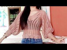 Girl Dress Patterns, Coat Patterns, Blouse Patterns, Clothing Patterns, Skirt Patterns, Crochet Jumper, Crochet Blouse, Cute Crochet, Knit Crochet