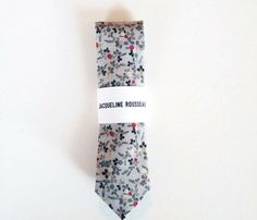 Grey and Floral Neckties