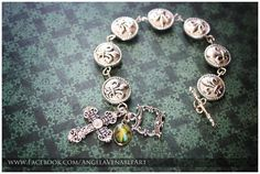 Divine Mercy Fleur De Lis Bracelet  PLEASE by AngelaVenArtwork