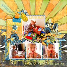 Created with A Boys World (collection) and Pieced Papers Templates http://www.thedigichick.com/shop/Pieced-Papers-templates.html both by Kimeric Kreations @ TDC. #kimerickreations, #thedigichick, #digitaltemplates, #digitalscrapping