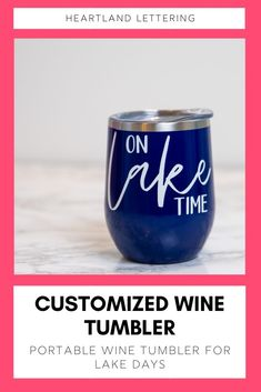 The perfect wine tumbler to keep any drink cool while boating on the lake! Choose from a variety of tumbler and vinyl colors to match your bathing suit! Lake Wine Tumblers - Lake Cup - Lake Gifts - Boat Tumbler - Gift Wine Lover - Lake Time Tumbler - Stainless Steel Tumblers