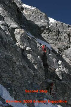 Second step, North Col Route