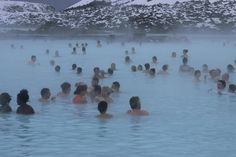 Champagne in the Blue Lagoon