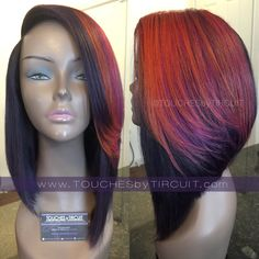 Full wig with closure. Constructed with 2 bundles + closure ***If you would like a different color, please include the color & disc. Sew In Hairstyles, Short Bob Hairstyles, Trendy Hairstyles, Braided Hairstyles, Black Hairstyles, Beautiful Hairstyles, African Hairstyles, Protective Hairstyles, Hairdos