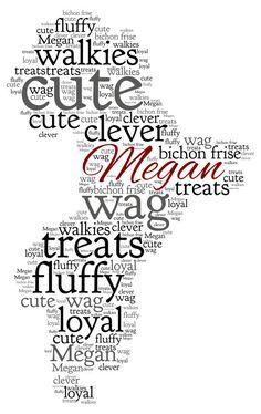 Personalised Word Art - A Bichon Frise Dog design A4 Print