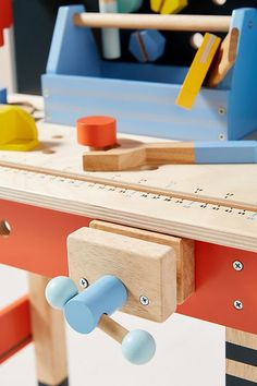 Play Tool Bench Set   Anthropologie Wooden Tool Boxes, Tool Bench, Bench Set, Circular Saw, Toys Online, Finding Yourself, Tools, Play, Learning