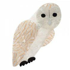 Miah the Masked Owl Bird Jewelry, Fabric Jewelry, Resin Jewelry, Jewellery, Quirky Gifts, Diamond Are A Girls Best Friend, Bird Art, Jewelry Making, Birds