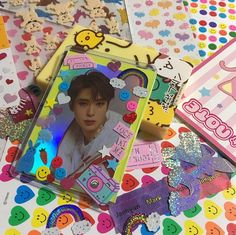 Image about nct in kpop// by Lena on We Heart It Rainbow Aesthetic, Kpop Aesthetic, Polaroid Decoration, Binder Decoration, Kpop Phone Cases, Kpop Diy, Daddy, Kpop Merch, Jaehyun Nct
