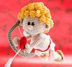 Amigurumi Cupido ❥ 4U hilariafina http://www.pinterest.com/hilariafina/