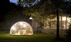 Turn your backyard into a garden oasis or a compact relaxation getaway with the garden igloo - a geodesic dome that's built with a love of nature in mind.
