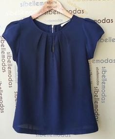 Blouses for women – Lady Dress Designs Blouse Styles, Blouse Designs, Sewing Blouses, Mode Plus, Short Tops, Work Attire, Mode Style, Diy Clothes, Blouses For Women