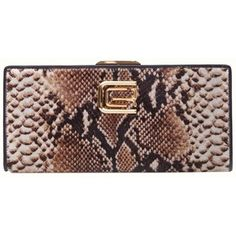 Pre-owned Roberto Cavalli Stylish Envelope By Cavalli Class Snake Skin... ($243) ❤ liked on Polyvore featuring bags, handbags, clutches, snake skin look, snakeskin purse, roberto cavalli handbags, cowhide purse, brown handbags and pre owned handbags