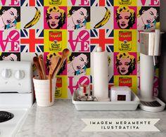 Jogo de Ladrilhos Adesivos Pop Art - 15x15cm | Westwing - Casa & Decoração