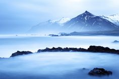 A large winter swell in the East Fjords, Iceland Iceland Landscape, Photography Workshops, Day For Night, Milky Way, Night Skies, Winter, Winter Time, Winter Fashion