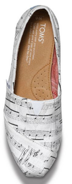 Love these music notes TOMS