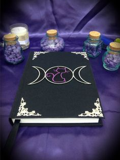 "Libro delle Ombre ""Triple Moon"" by LittleSorcerer on Etsy"