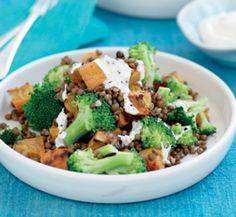 Roasted kumara, lentil and broccoli salad | Healthy Food Guide