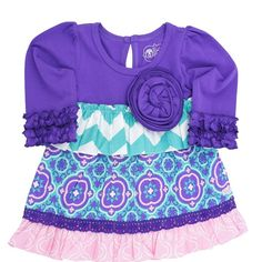 Ruffle Butts Purple Olivia Tunic from Freckles Children's Boutique for $26.00