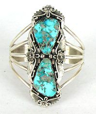 Types and colors of turquoise used in Native American Indian Jewelry Authentic Native American Navajo Sterling Silver Morenci Turquoise bracelet Navajo Jewelry, Western Jewelry, Vintage Jewelry, Bracelet Turquoise, Turquoise Rings, Bracelets En Argent Sterling, Sterling Silver Jewelry, Silver Ring, Silver Earrings