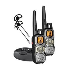 Uniden GMR4040-2CKHS Two Weather Resistant 40 Mile Range FRS/GMRS Radios With 2 Vox Headsets by Uniden. $56.98. From the Manufacturer                    Stay in touch with 40-mile two-way radio set     Includes VOX headset for hands-free operation              Stay in contact during outdoor activities, sporting events, and more with the Uniden GMR4040-2CKHS 40-mile 2-way radio with VOX headset. This 22-channel radio set boasts a durable casing and a range of up to 40 miles. The r...
