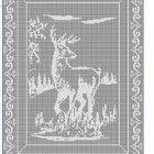 22 Beautiful deer filet crochet pattern afghan curtain  | CROCHETBYDASMADE -  on ArtFire