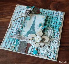 *Fleur de lis...* http://makaart14.blogspot.com Paper by UHK Gallery