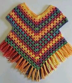 Poncho-Pullover-Muster von Addicted 2 The Hook , Poncho sweater pattern by Addicted 2 The Hook , . Point Granny Au Crochet, Poncho Au Crochet, Pull Crochet, Crochet Poncho Patterns, Crochet Girls, Crochet Baby Clothes, Crochet For Kids, Free Crochet, Knit Crochet