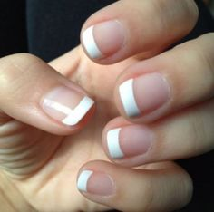 Trendy nails short gel french tips 60 ideas French Manicure Gel Nails, Shellac Nail Colors, Gel Nail Tips, French Tip Nails, Manicure And Pedicure, Diy Nails, Nail Polish, Acrylic Nails, French Manicures