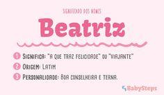 #Beatriz #babysteps #significado #bebés #escolher #nome #rapaz #menino