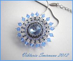 Осколки неба. Beaded Brooch, Beaded Jewelry, Crochet Earrings, Jewellery, Beading Tutorials, Beaded Embroidery, Couture, Seed Beads, Jewelry Making