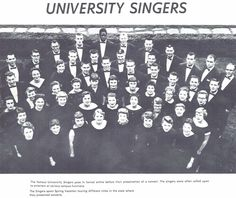 The 1956-57 University Singers. From the 1957 Oregana (University of Oregon yearbook). www.CampusAttic.com