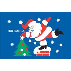 "3x5 ""Rooftop Santa"" Seasonal Flag; Nylon H&G - Flags A Flying"