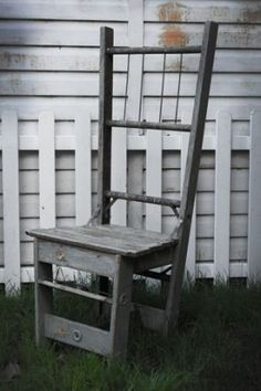~ recycled ladder chair ~