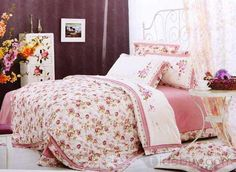 100% Cotton Poetic Princess Pastoral 6 Piece Bedding Sets