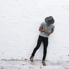 Three cheers for gallery hopping and finding the perfect white brick wall to play model. Photo c/o @chelseadmarch