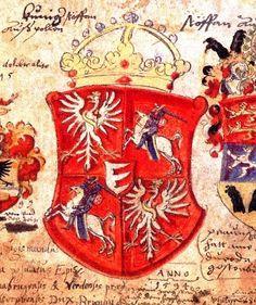 herb RON z czasów Stefana I Batorego