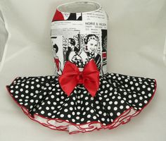 Small dog harness dress. Tutu 4 layer skirt.Vintage by poshdog, $60.00