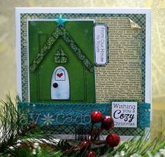 Lovely, perfectly cozy card created by @Connie Mercer using the Gingerbread Goodness set!