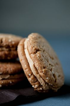 Salty Peanut Brown Butter Sandwich Cookies | Hungry Rabbit