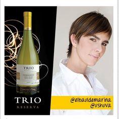 Felicitaciones a nuestra Marina Taylhardat! ahora embajadora de Concha y Toro Venezuela para TRIO Chardonnay!... foto cortesía de Julio Osorio.