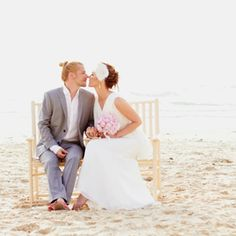 Beautiful beach, stylish bride and groom, pink palette and lot's of beautiful smiles await in this gorgeous beach wedding.