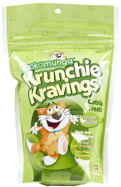 8in1 Kookamunga Krunchie Kravings Catnip Treats - Chicken - 5 oz (Pack of 2) >>> Visit the image link more details.