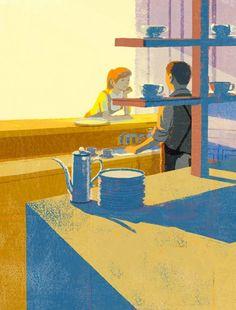 Delicate vintage illustrations by Tatsuro Kiuchi